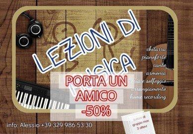 lezioni di musica chitarra Alessio P. insegnante di musica promozione -50% porta un amico